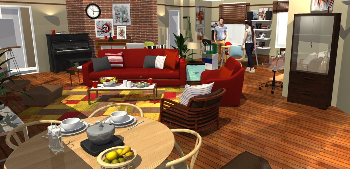 How I Met Your Mother apartment in 3D! | HomeByMe