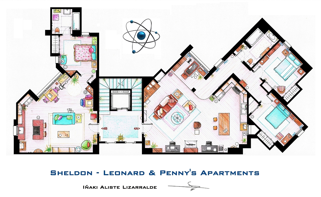 the big bang theory apartment in 3d homebyme. Black Bedroom Furniture Sets. Home Design Ideas