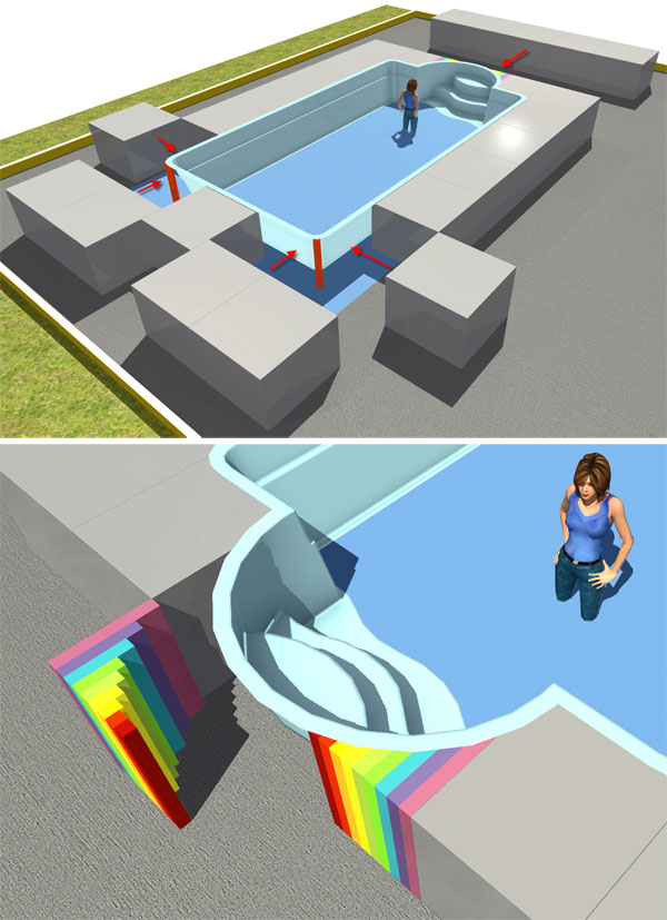 How to make a swimming pool using homebyme homebyme Make your own 3d shapes online