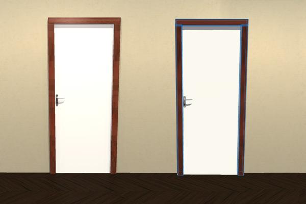 Passer d 39 une porte standard une porte d co homebyme - Encadrement de porte interieur ...