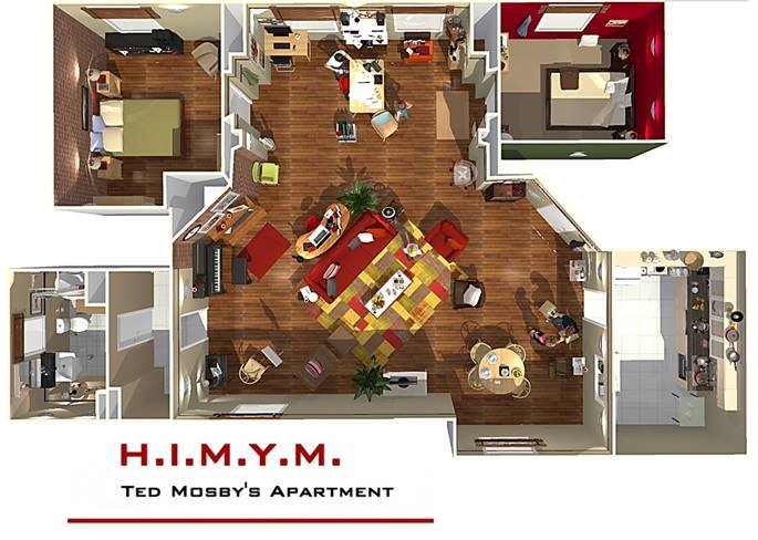 How I Met Your Mother Apartment In 3d on Marshall Floor Plan