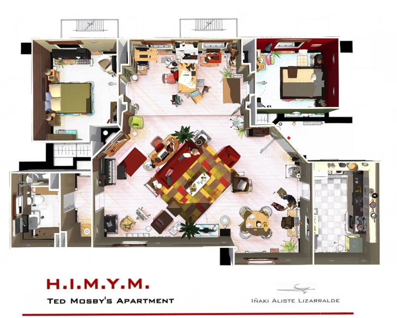 L 39 appartement de how i met your mother en 3d homebyme - Home by me ...