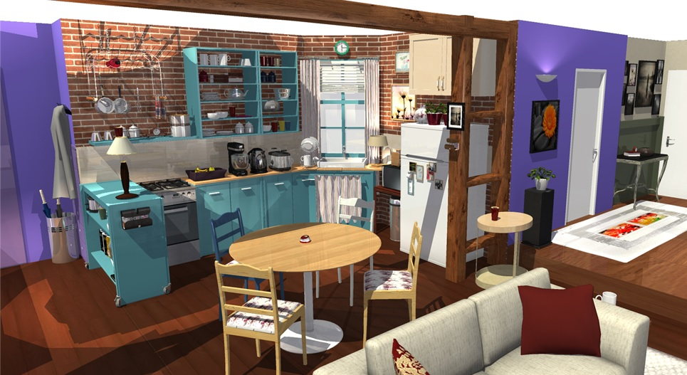 Friends tv show apartment in 3d homebyme - Home by me ...