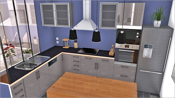 10 cuisines en 3d avec homebyme homebyme. Black Bedroom Furniture Sets. Home Design Ideas