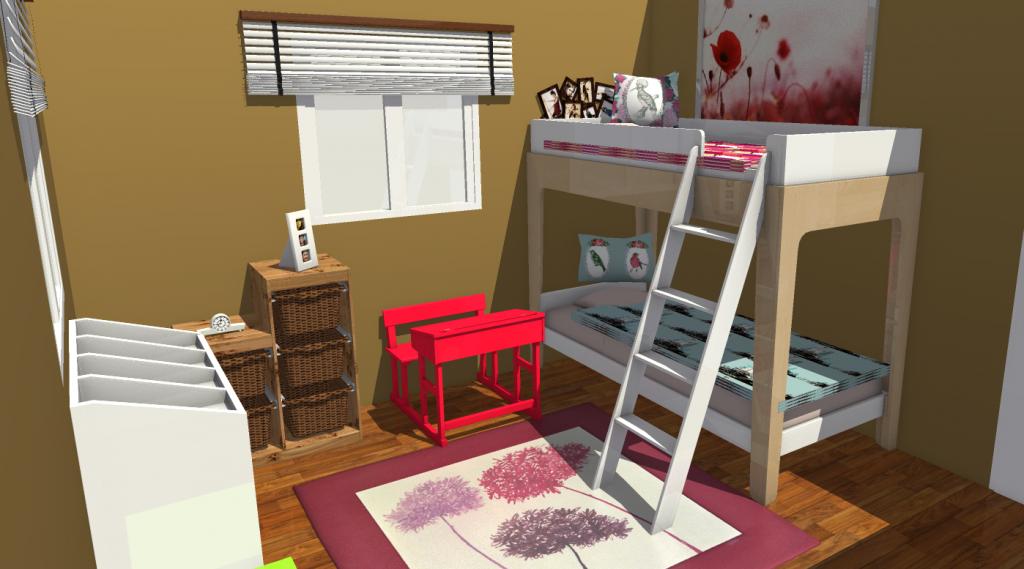 8 projets de chambres d enfants d couvrir en 3d homebyme. Black Bedroom Furniture Sets. Home Design Ideas
